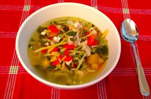 Paleo Ginger Chicken Noodle Soup