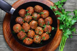 Pork and Turkey Thai Veggie Meatballs