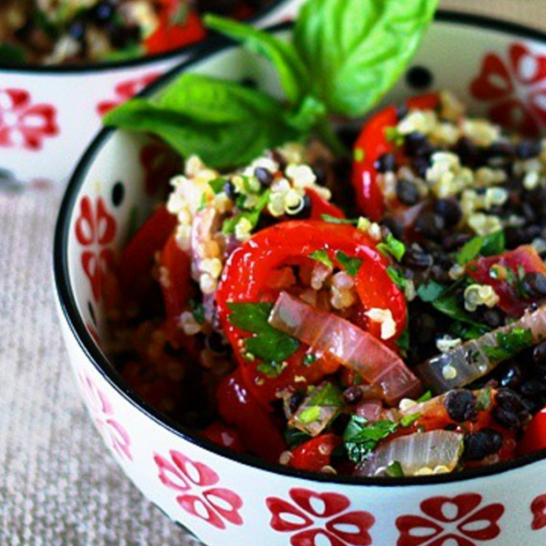 Quinoa, Lentil, Roasted Vegetable Salad