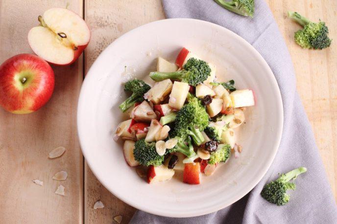 Broccoli and Apple Salad with Walnuts